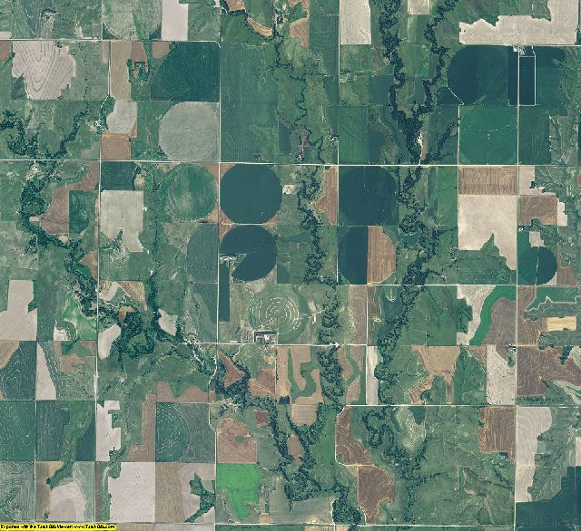Gosper County, Nebraska aerial photography