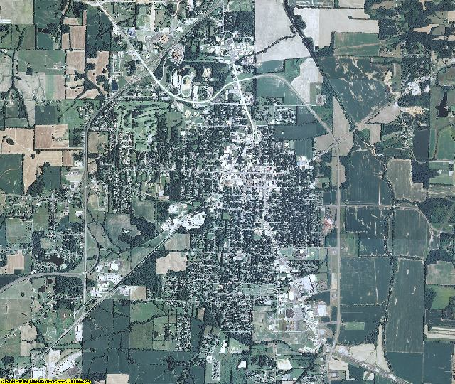 Graves County, Kentucky aerial photography