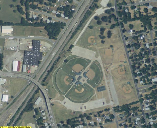 Grayson County, TX aerial photography detail