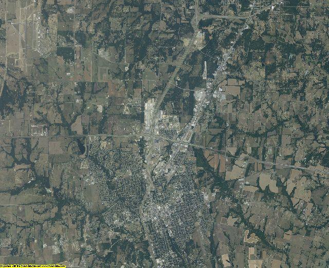 Grayson County, Texas aerial photography