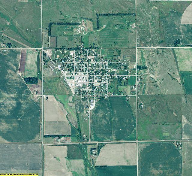 Greeley County, Nebraska aerial photography