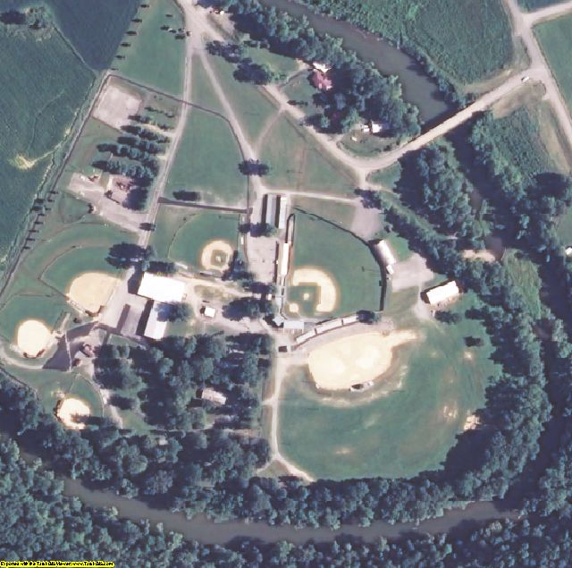 Green County, KY aerial photography detail