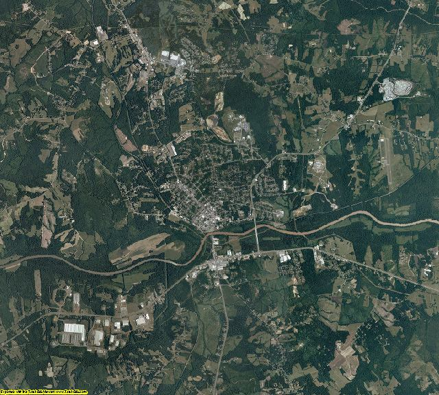 Halifax County, Virginia aerial photography