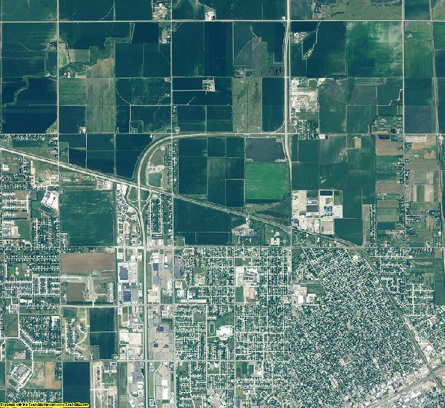 Hall County, Nebraska aerial photography