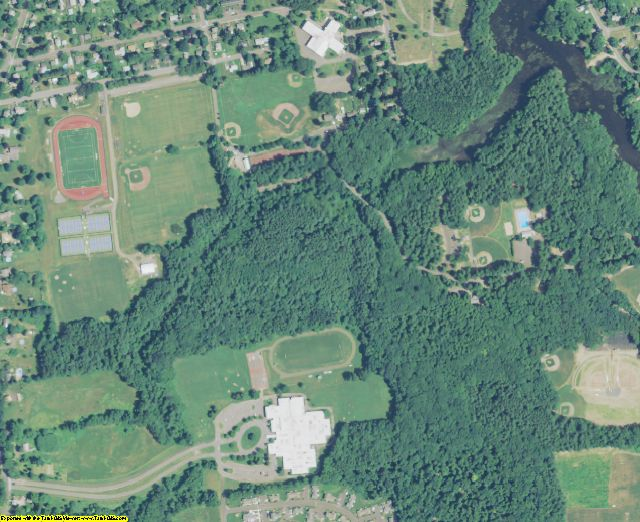 Hampshire County, MA aerial photography detail