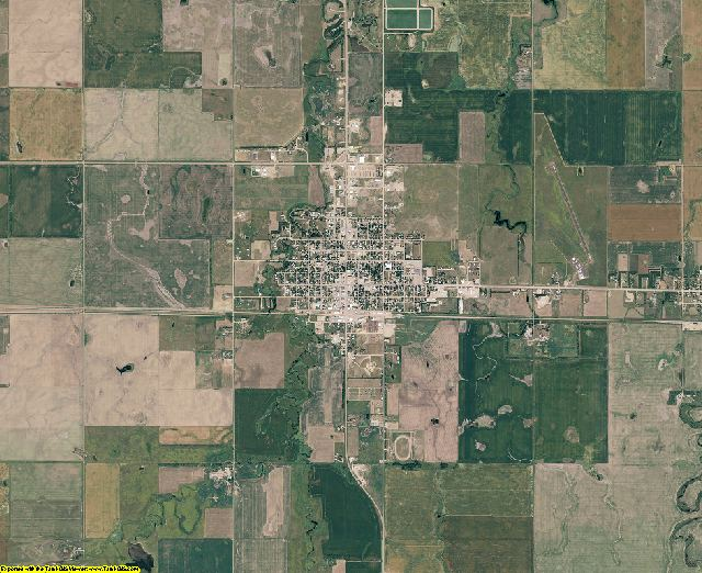 Hand County, South Dakota aerial photography