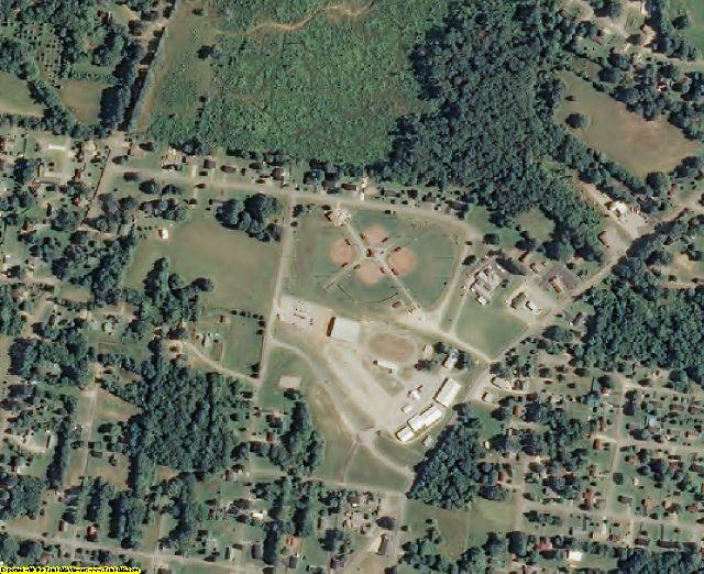 Hardin County, TN aerial photography detail