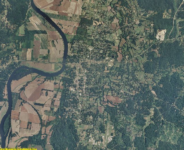 Hardin County, Tennessee aerial photography