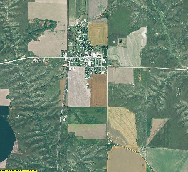 Hayes County, Nebraska aerial photography