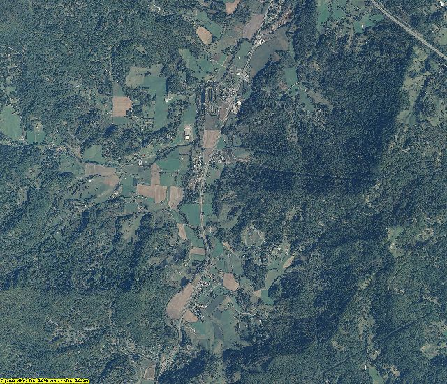Haywood County, North Carolina aerial photography