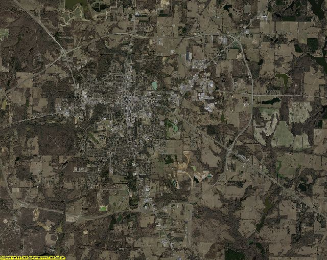 Henderson County, Texas aerial photography