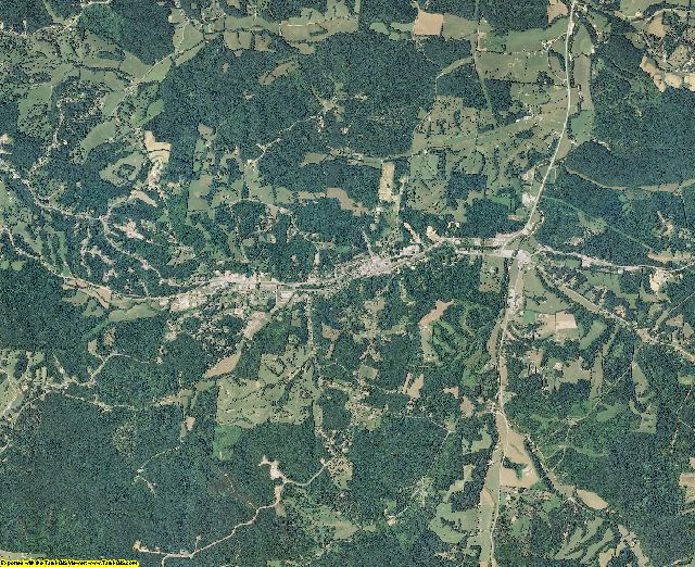 Houston County, Tennessee aerial photography