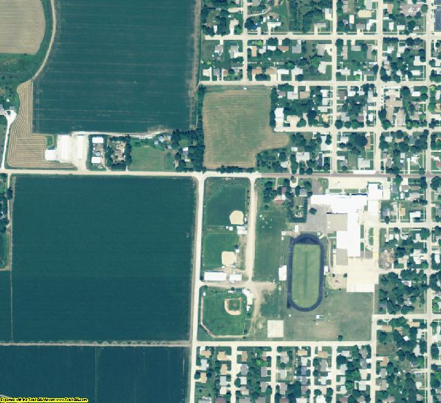 Howard County, NE aerial photography detail