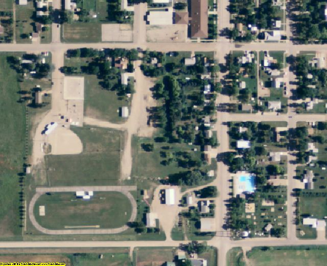 Hyde County, SD aerial photography detail