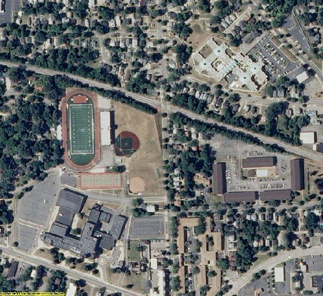 Jackson County, MI aerial photography detail