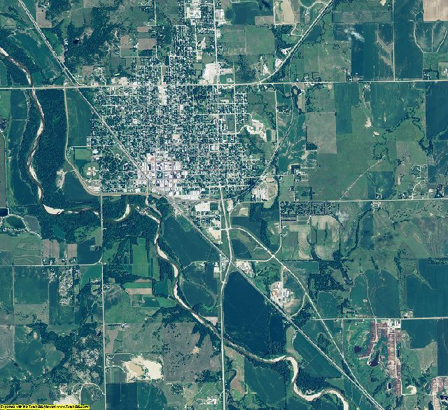 Jefferson County, Nebraska aerial photography
