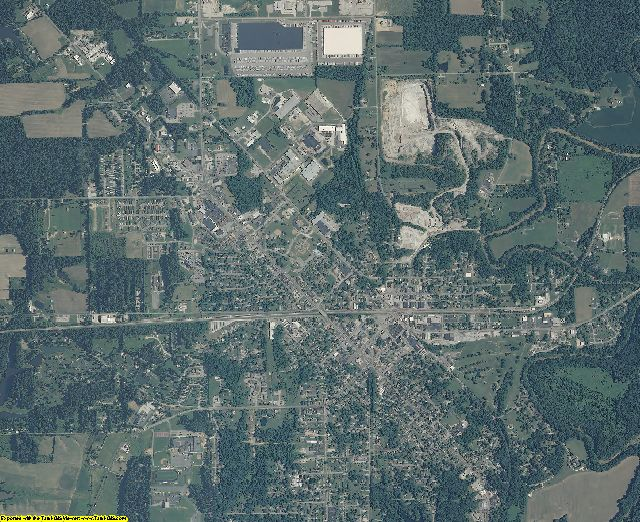 Jennings County, Indiana aerial photography