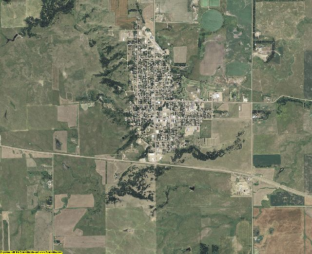 Jerauld County, South Dakota aerial photography