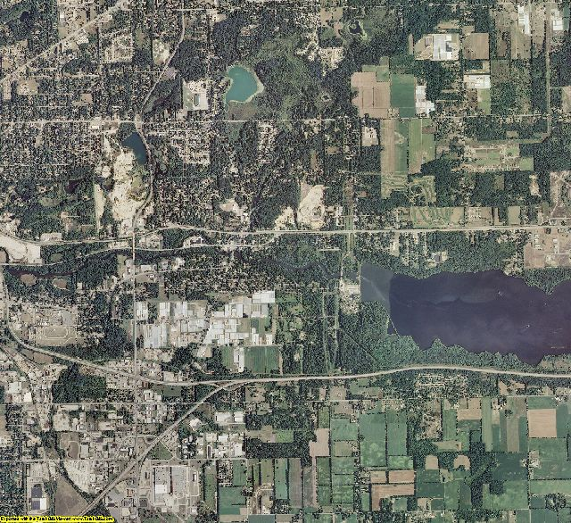 Kalamazoo County, Michigan aerial photography