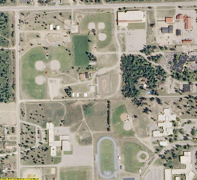 Kalkaska County, MI aerial photography detail