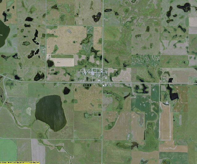 Kidder County, North Dakota aerial photography