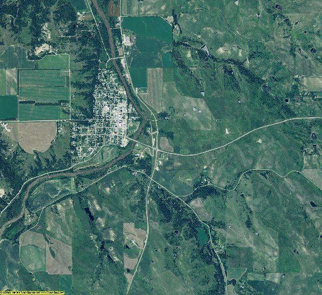 Knox County, Nebraska aerial photography