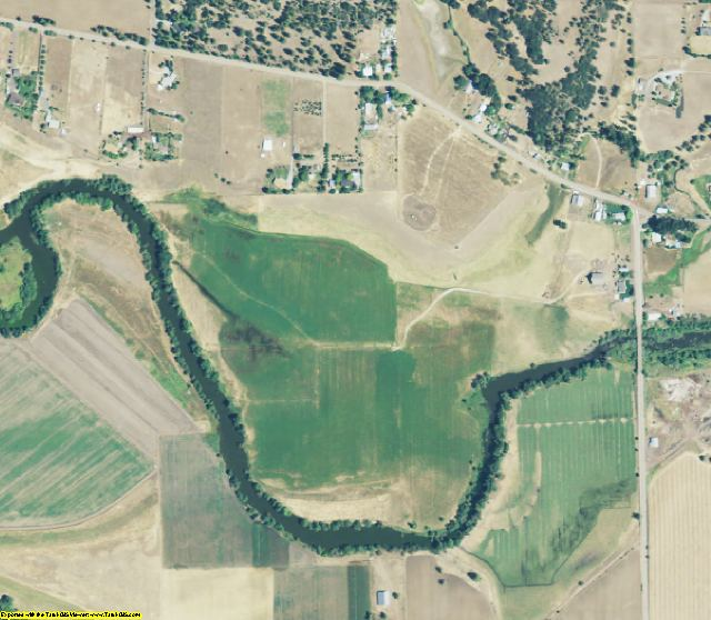 Lassen County, CA aerial photography detail