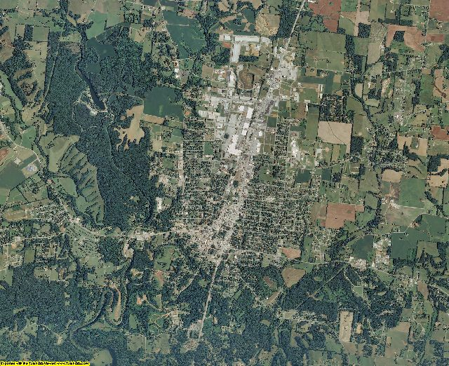 Lawrence County, Tennessee aerial photography
