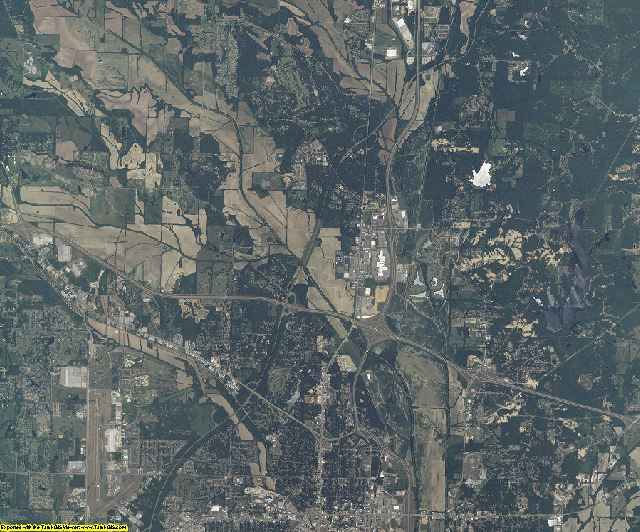 Lee County, Mississippi aerial photography
