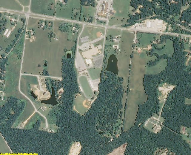 Lewis County, TN aerial photography detail