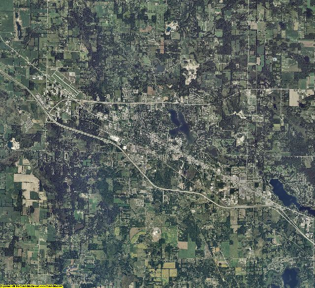 Livingston County, Michigan aerial photography