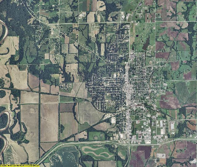Livingston County, Missouri aerial photography