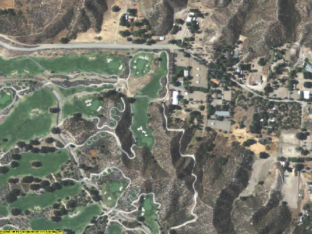 Los Angeles County, CA aerial photography detail