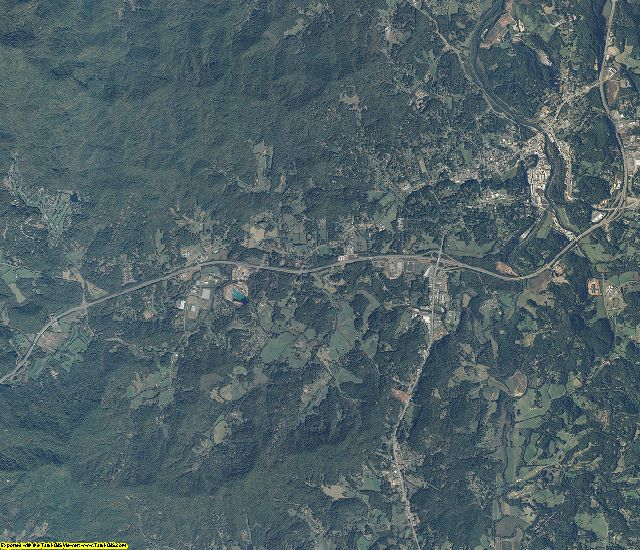 Macon County, North Carolina aerial photography