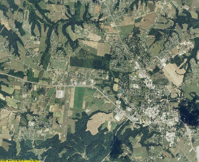 Macon County, Tennessee aerial photography
