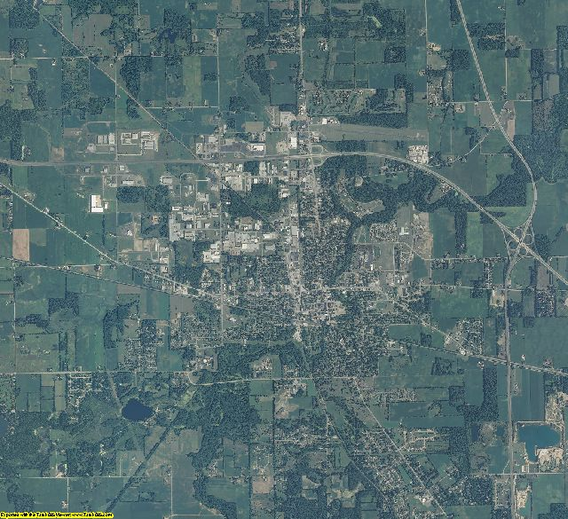 Marshall County, Indiana aerial photography