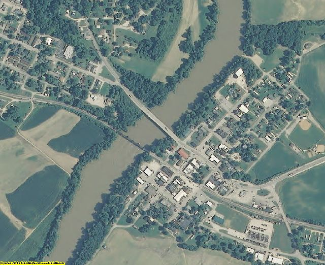 Martin County, IN aerial photography detail