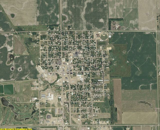 McCook County, South Dakota aerial photography