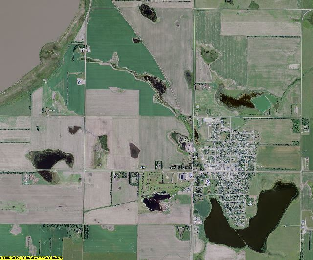 McIntosh County, North Dakota aerial photography