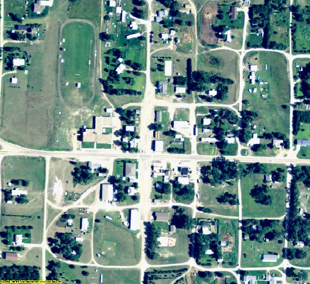 McPherson County, NE aerial photography detail