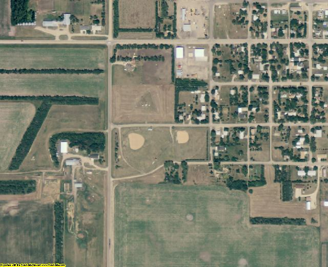 McPherson County, SD aerial photography detail