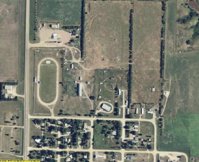Mellette County, SD aerial photography detail