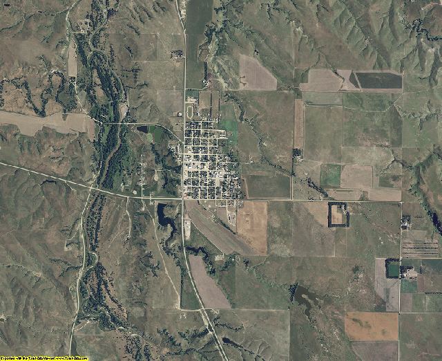 Mellette County, South Dakota aerial photography
