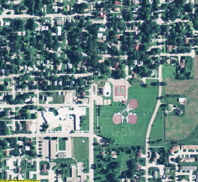 Merrick County, NE aerial photography detail