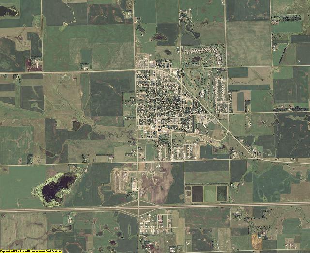 Minnehaha County, South Dakota aerial photography