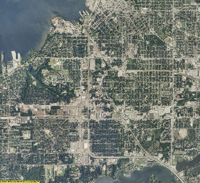 Muskegon County, Michigan aerial photography