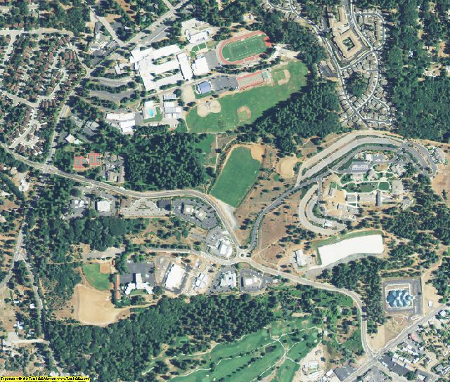 Nevada County, CA aerial photography detail