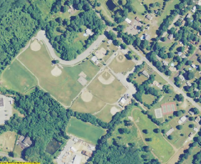 New London County, CT aerial photography detail