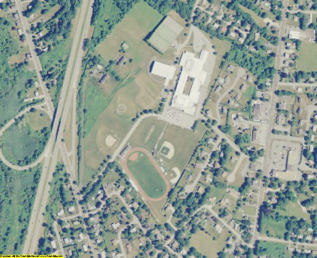 Newport County, RI aerial photography detail