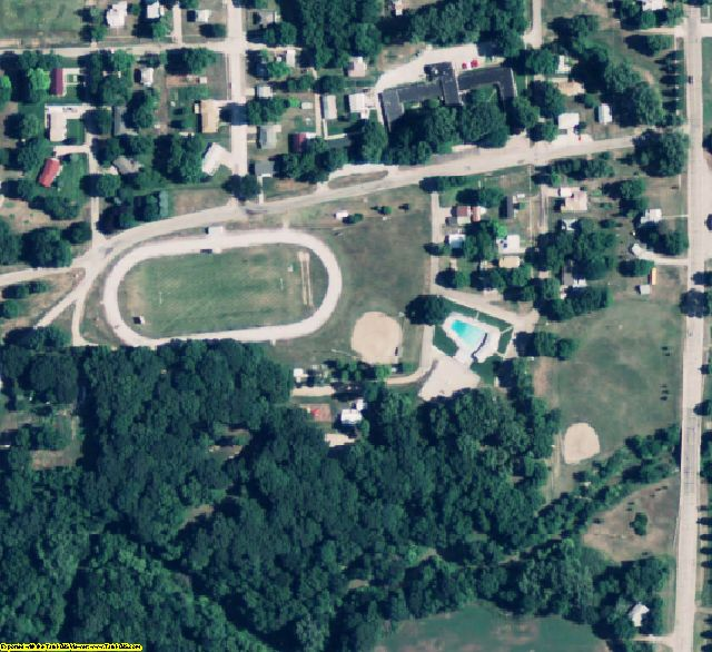 Nuckolls County, NE aerial photography detail